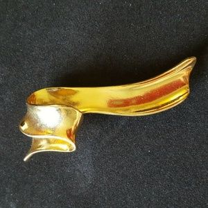 "Vintage Avon GOLDEN RIBBON 3"" Brooch Pin 1996"